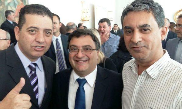 Cobra Repórter com Michele Caputo e o prefeito de Alvorada, João Carlos Peres