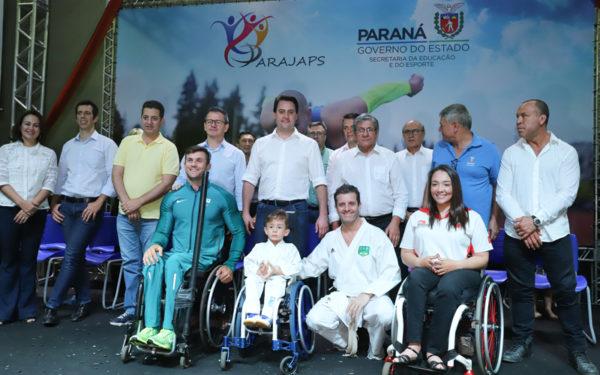 Governador Carlos Massa Ratinho Junior abre oficialmente a oitava edição dos Jogos Paradesportivos do Paraná (Parajaps), em Londrina.  -  Londrina, 20/06/2019  -  Foto: Rodrigo Félix Leal/ANPr